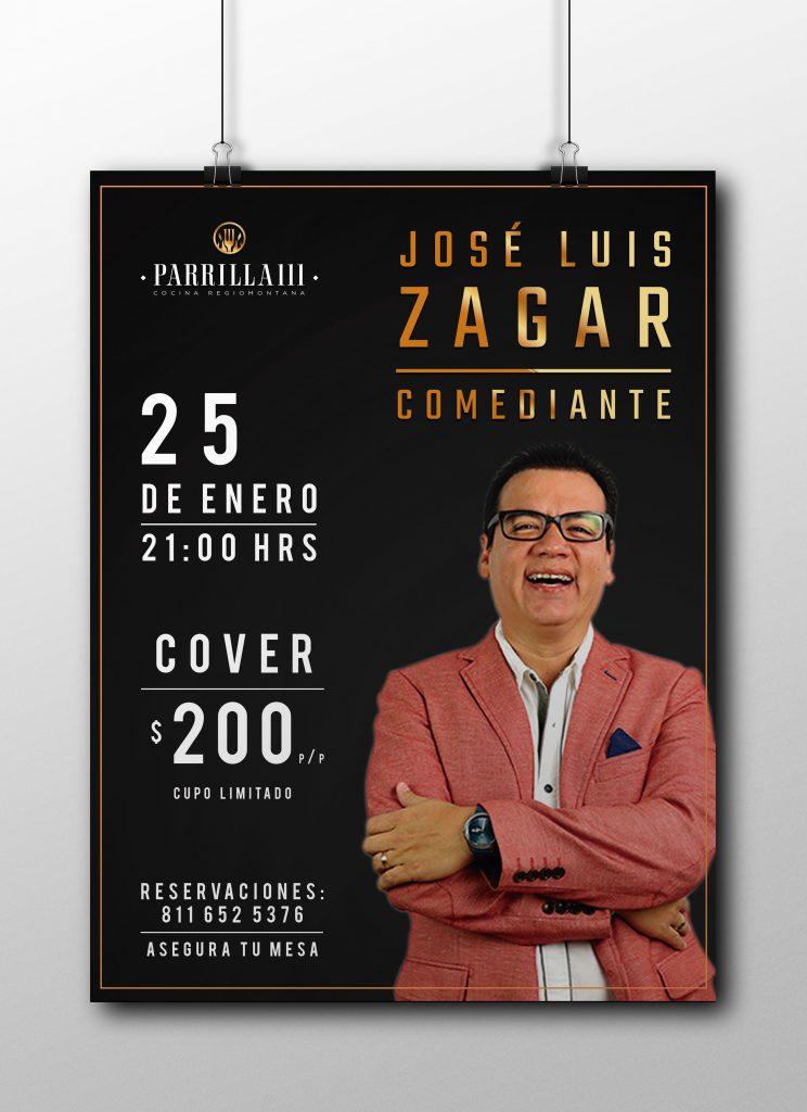 Parrilla Poster Mockup Zagar