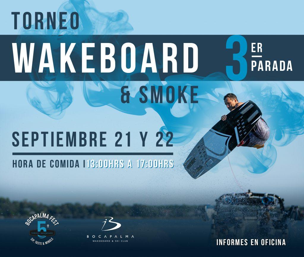 Invitación Wakeboard and Smoke