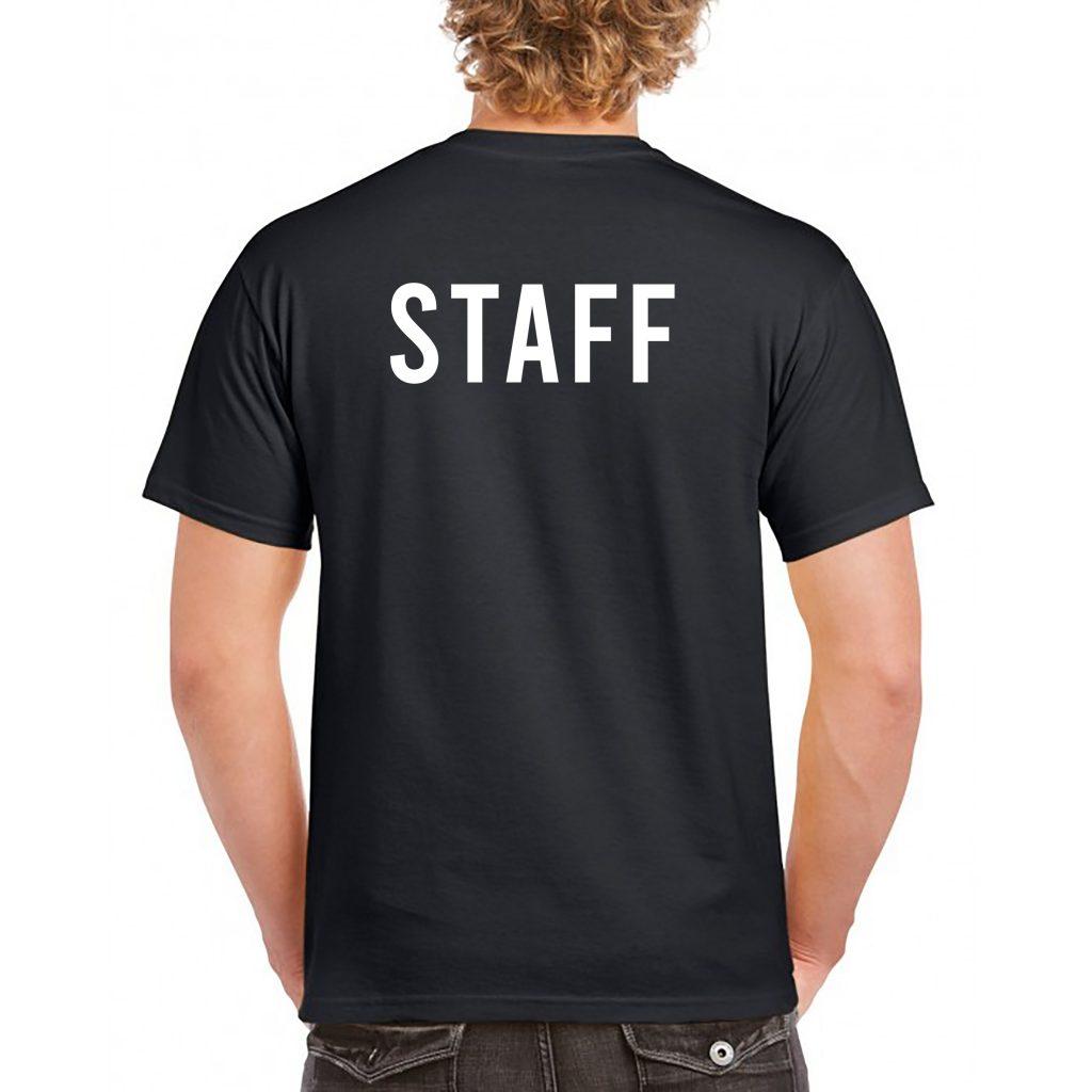 camiseta negra reverso